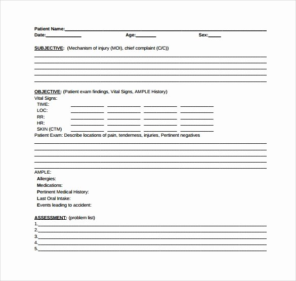 Soap Note Template Word Luxury soap Note Template 10 Download Free Documents In Pdf Word