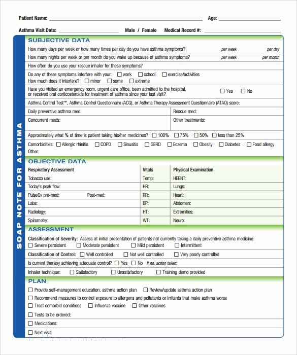 Soap Note Template Word New soap Note Template 10 Download Free Documents In Pdf Word