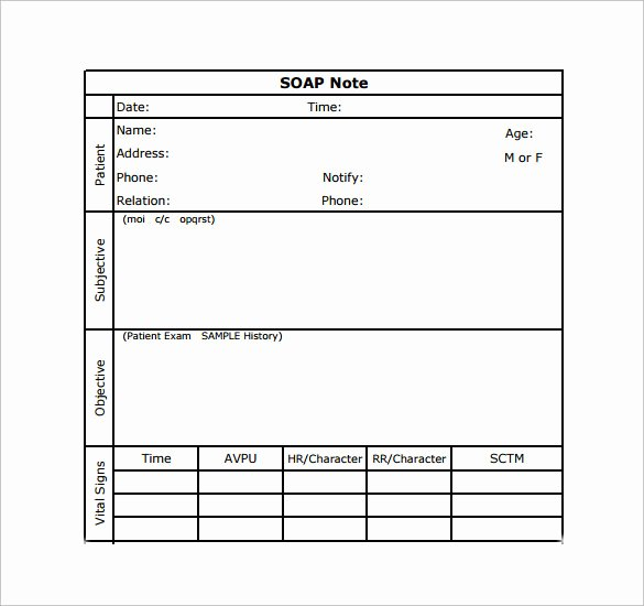 Soap Progress Note Template New soap Note Example 12 Free Samples Examples format