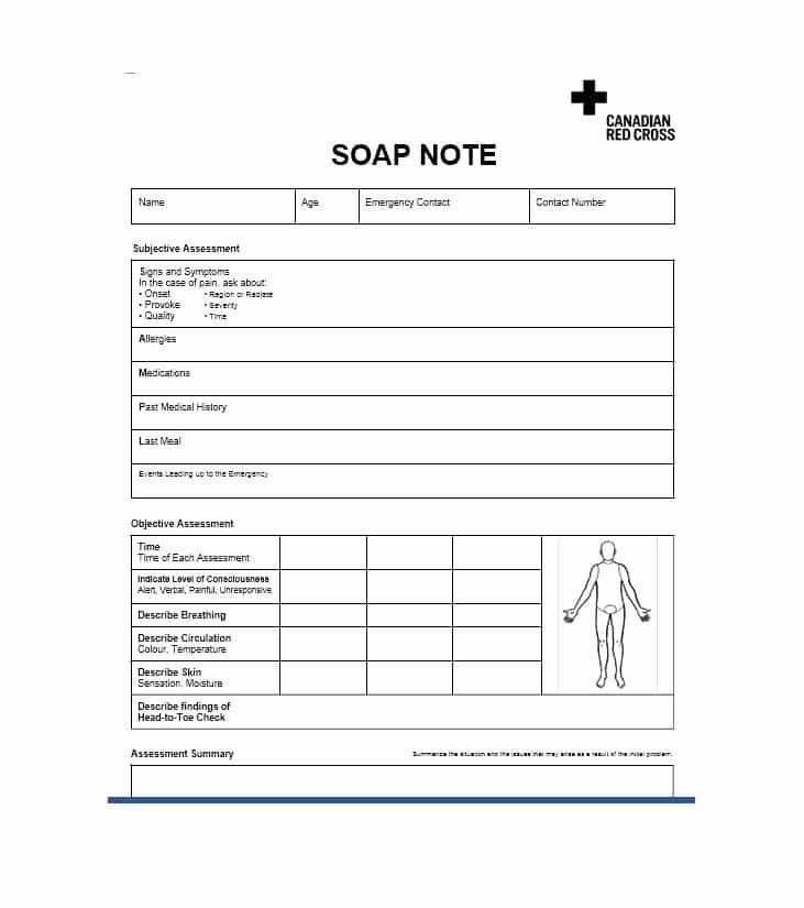 Soap Progress Notes Template Best Of 40 Fantastic soap Note Examples & Templates Template Lab
