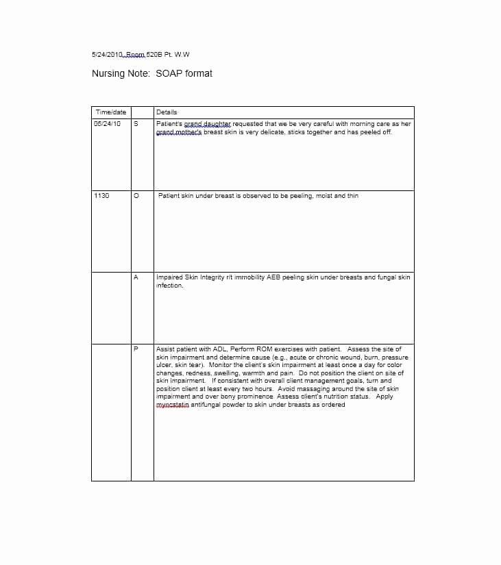 Soap Progress Notes Template Fresh 40 Fantastic soap Note Examples & Templates Template Lab