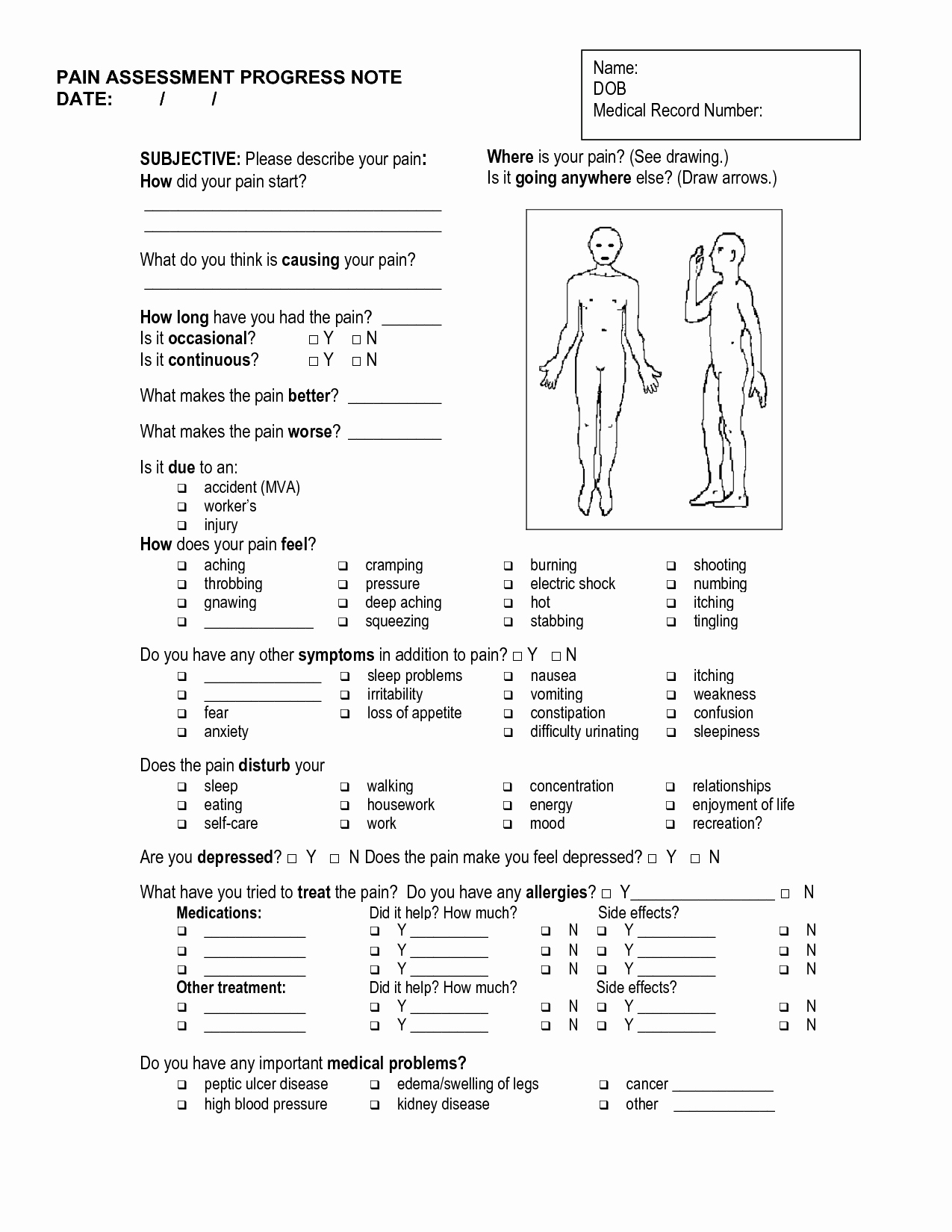 Soap therapy Note Template Unique 10 Best Of Free Massage therapy soap Note forms