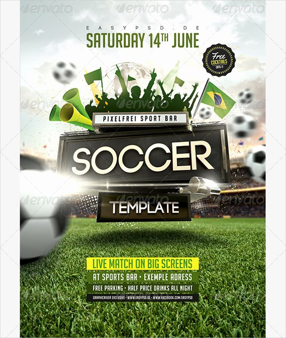 Soccer Flyer Template Free Awesome 43 soccer Flyer Templates In Psd Word Eps Vector Ai