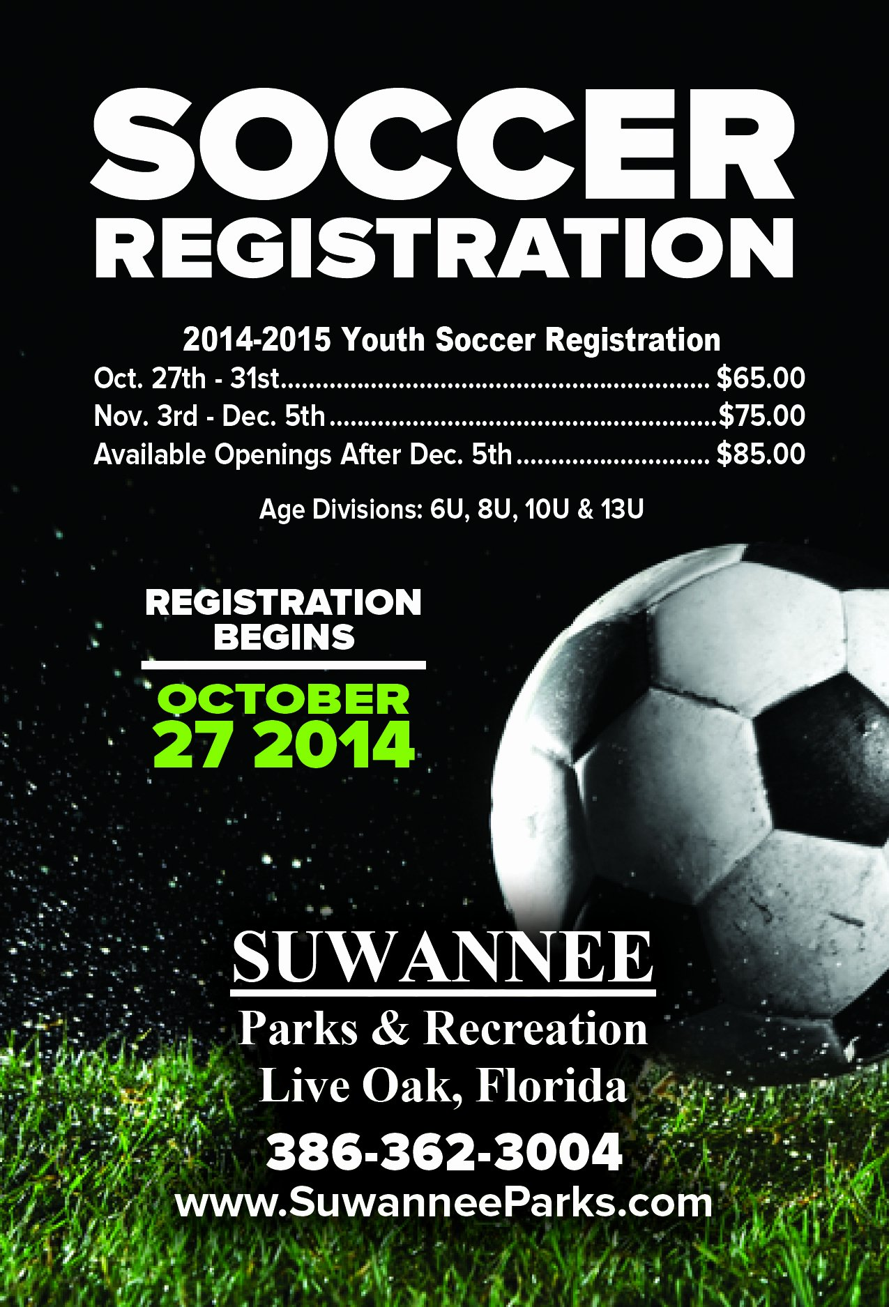Soccer Flyer Template Free Awesome Suwannee Parks and Recreation
