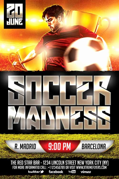Soccer Flyer Template Free Beautiful Free soccer Flyer Template Xtremeflyers