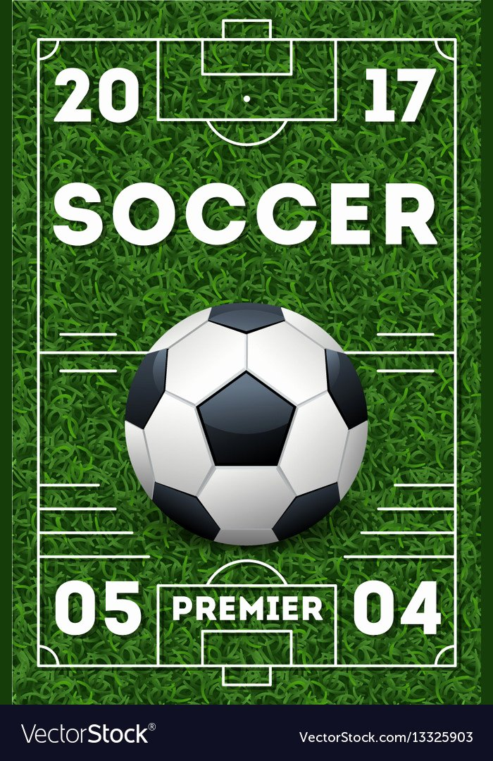 Soccer Flyer Template Free Best Of soccer Poster Template Royalty Free Vector Image
