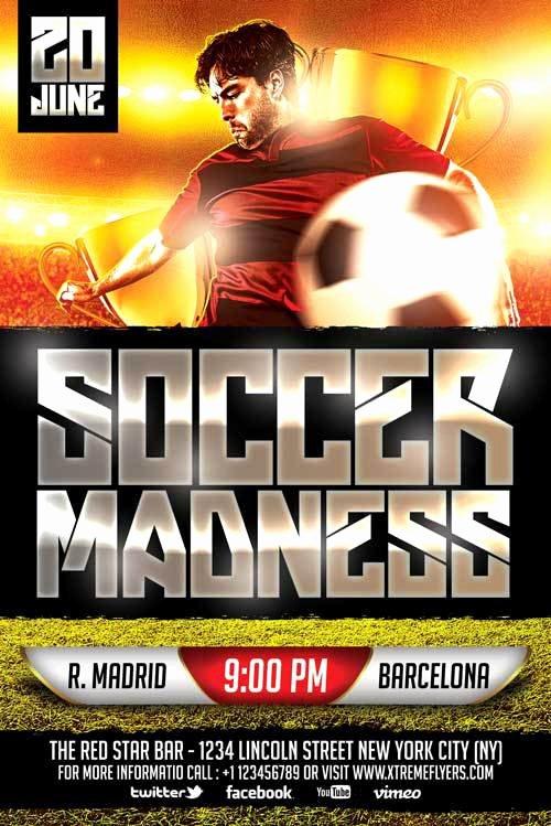 Soccer Flyer Template Free Elegant Download soccer Game Free Psd Flyer Template