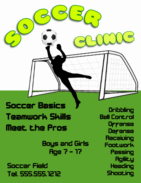 Soccer Flyer Template Free Elegant soccer Clinic Flyer Template Free View R Image