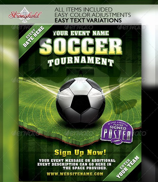 Soccer Flyer Template Free Elegant top 20 soccer Football Flyer Templates 56pixels