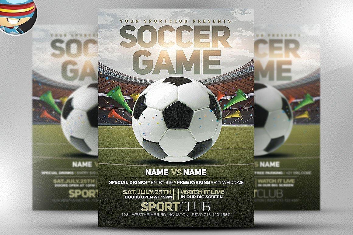 Soccer Flyer Template Free Fresh soccer Game Flyer Template 2 Flyer Templates Creative