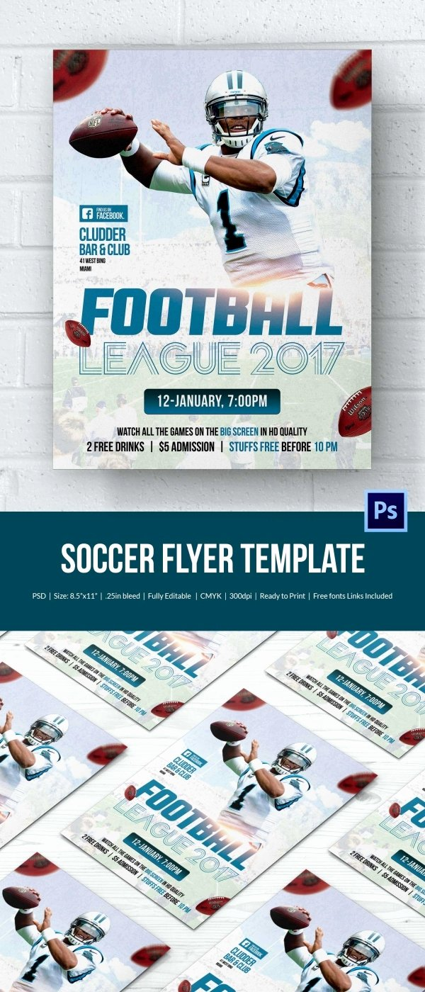 Soccer Flyer Template Free Lovely 43 soccer Flyer Templates In Psd Word Eps Vector Ai