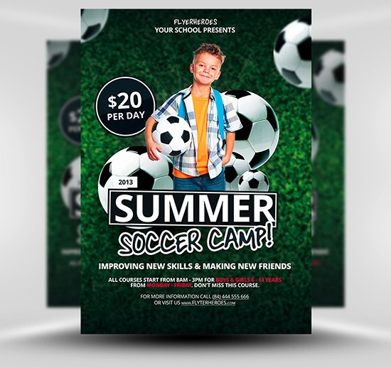 Soccer Flyer Template Free Luxury Free Summer soccer Camp Flyer Template Flyerheroes