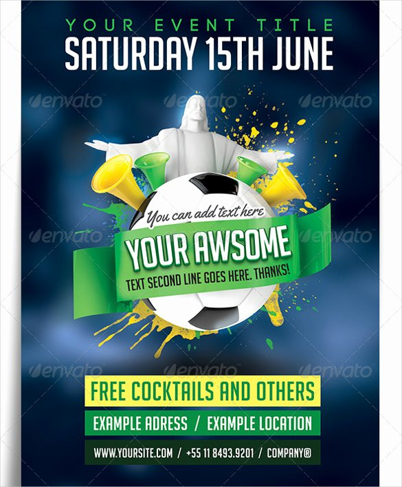 Soccer Flyer Template Free New 43 soccer Flyer Templates In Psd Word Eps Vector Ai