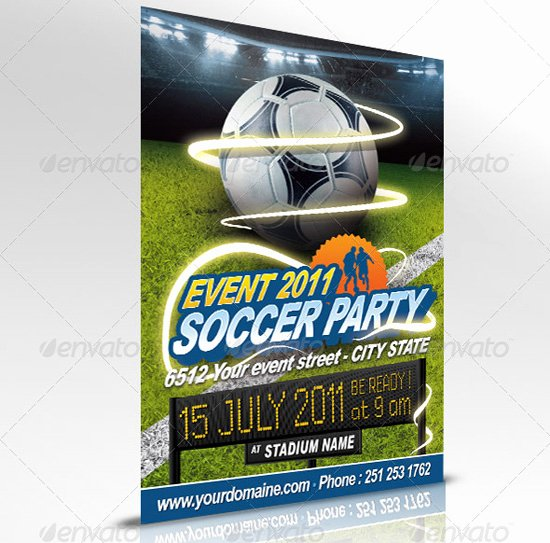 Soccer Flyer Template Free Unique 160 Free and Premium Psd Flyer Design Templates Print