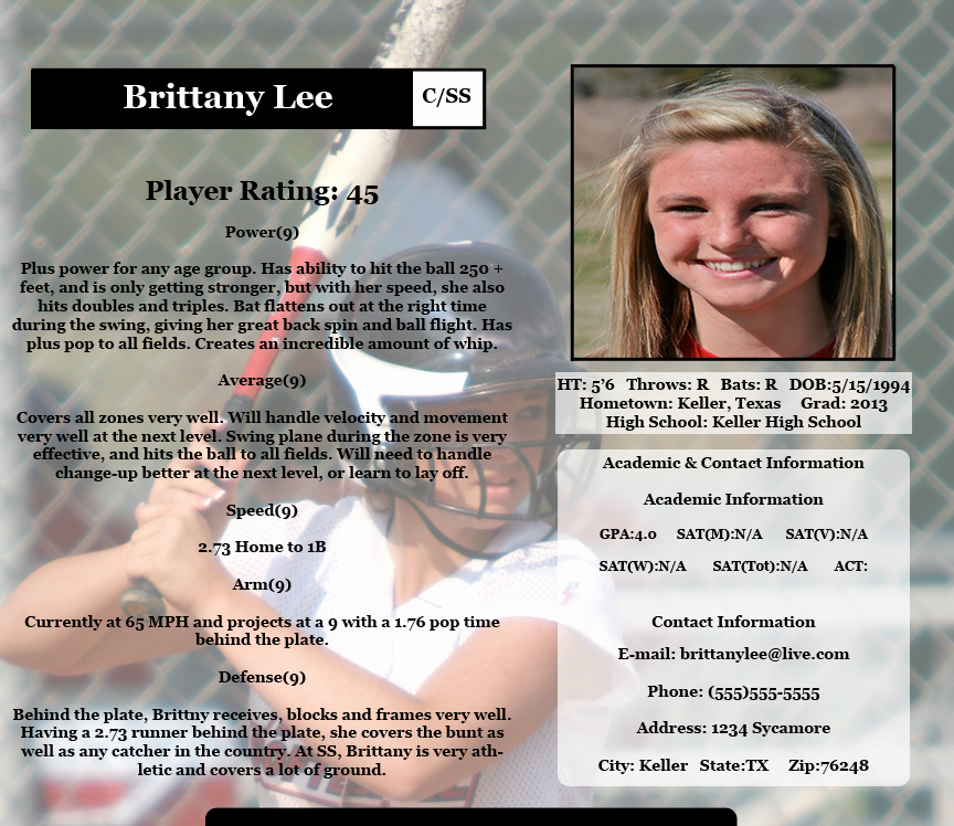 Soccer Player Profile Template Fresh softball Player Profile Template Free Best