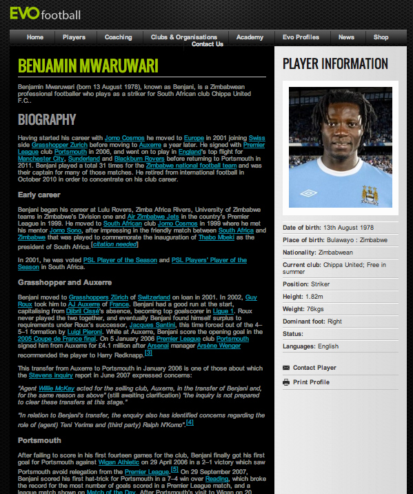 Soccer Players Profile Template Awesome Promote Yourself Evo Football Consultancyevo Football