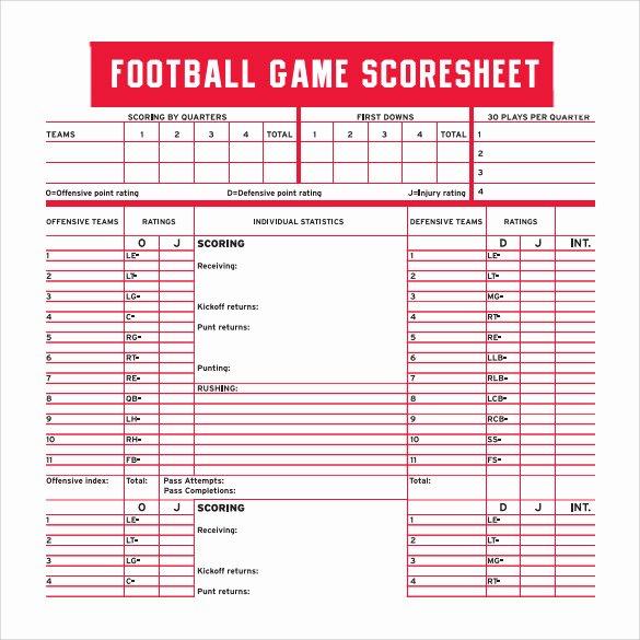 Soccer Score Sheet Template Beautiful 10 Sample Football Score Sheet Templates