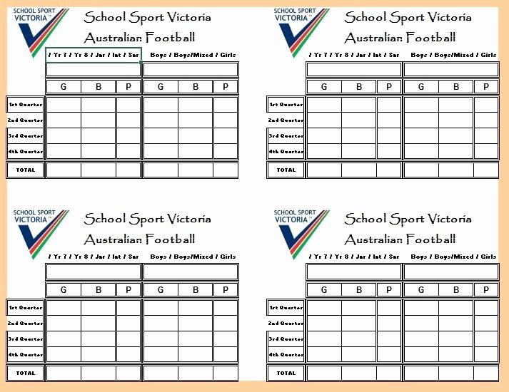 Soccer Score Sheet Template Elegant 13 Free Sample Football Score Sheet Templates Printable