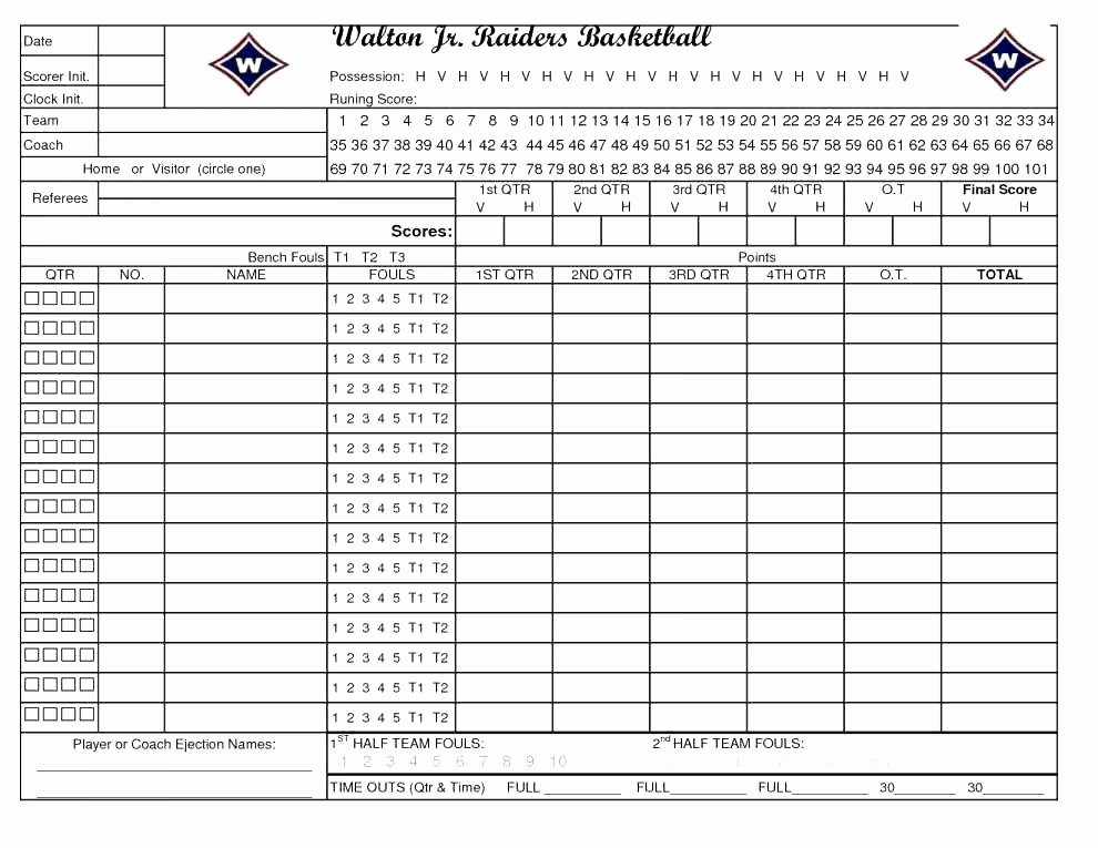 Soccer Score Sheet Template Fresh Basketball Scorecard Template Excel Score Sheet 2003