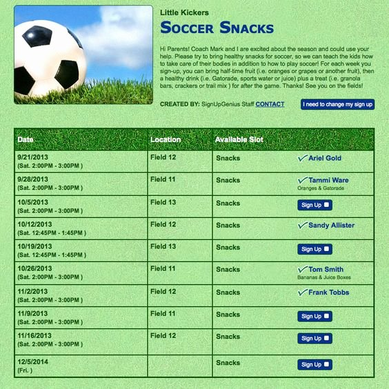 Soccer Snack Schedule Template Fresh Team Snacks Simplified You Ll Never Know Just How Hard