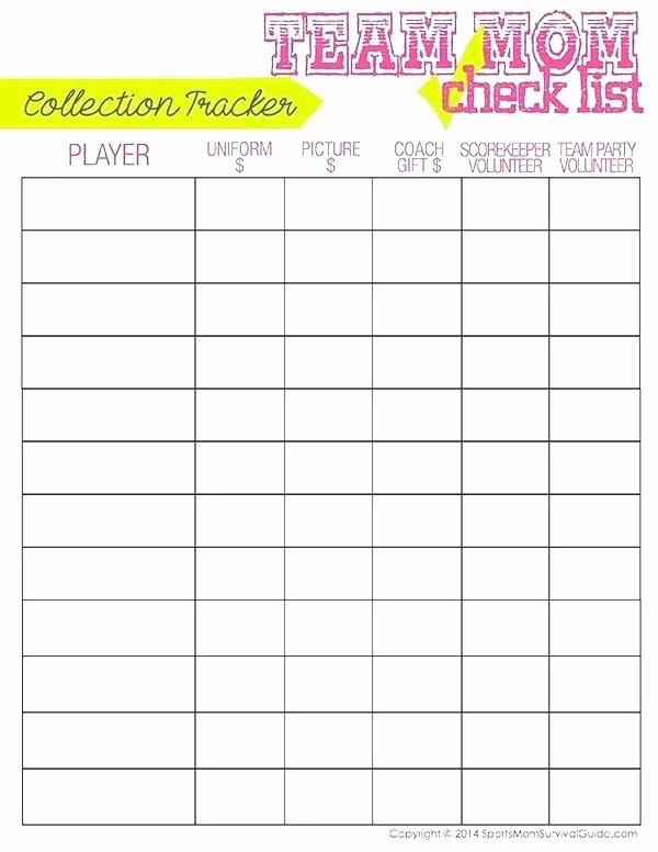 Soccer Snack Schedule Template Lovely Free Printable Snack Sign Up Sheet Best Sheets