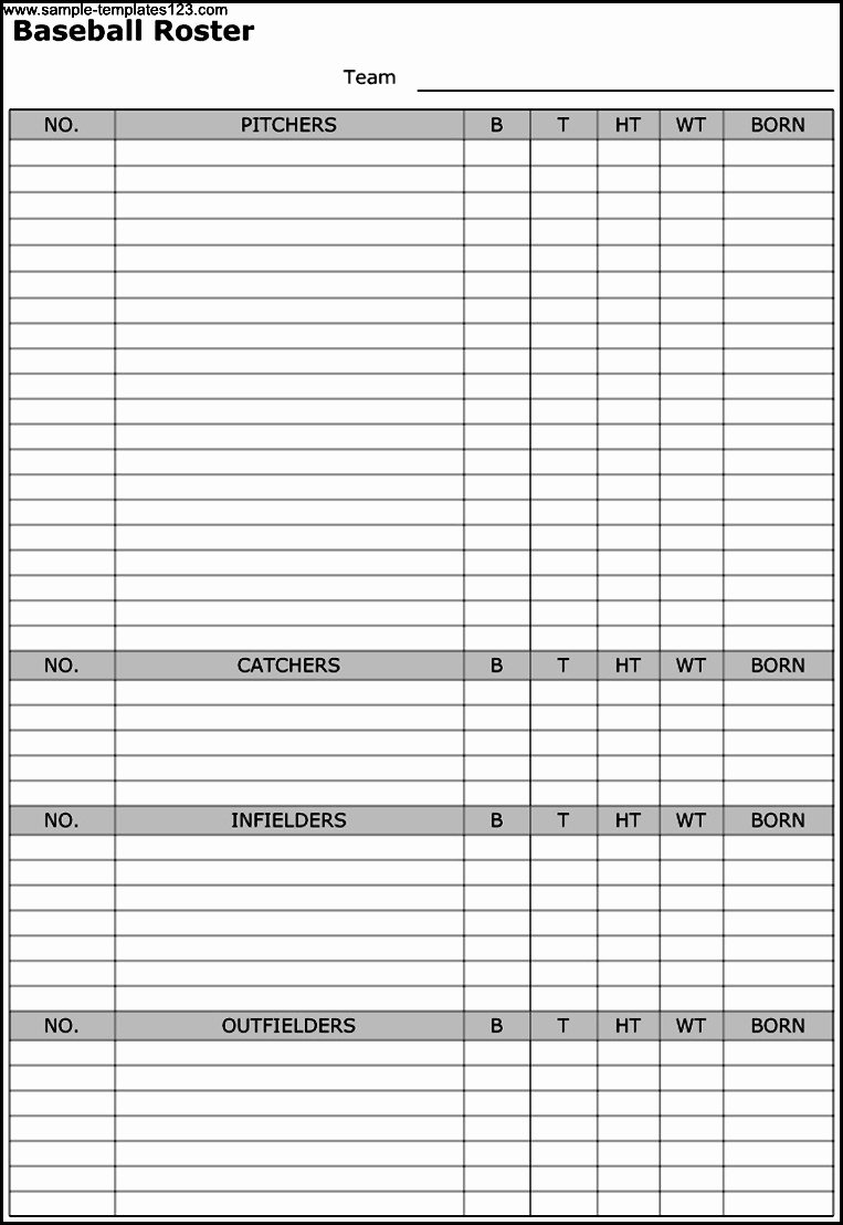 Soccer Team Roster Template Luxury 26 Of Baseball Game Schedule Template