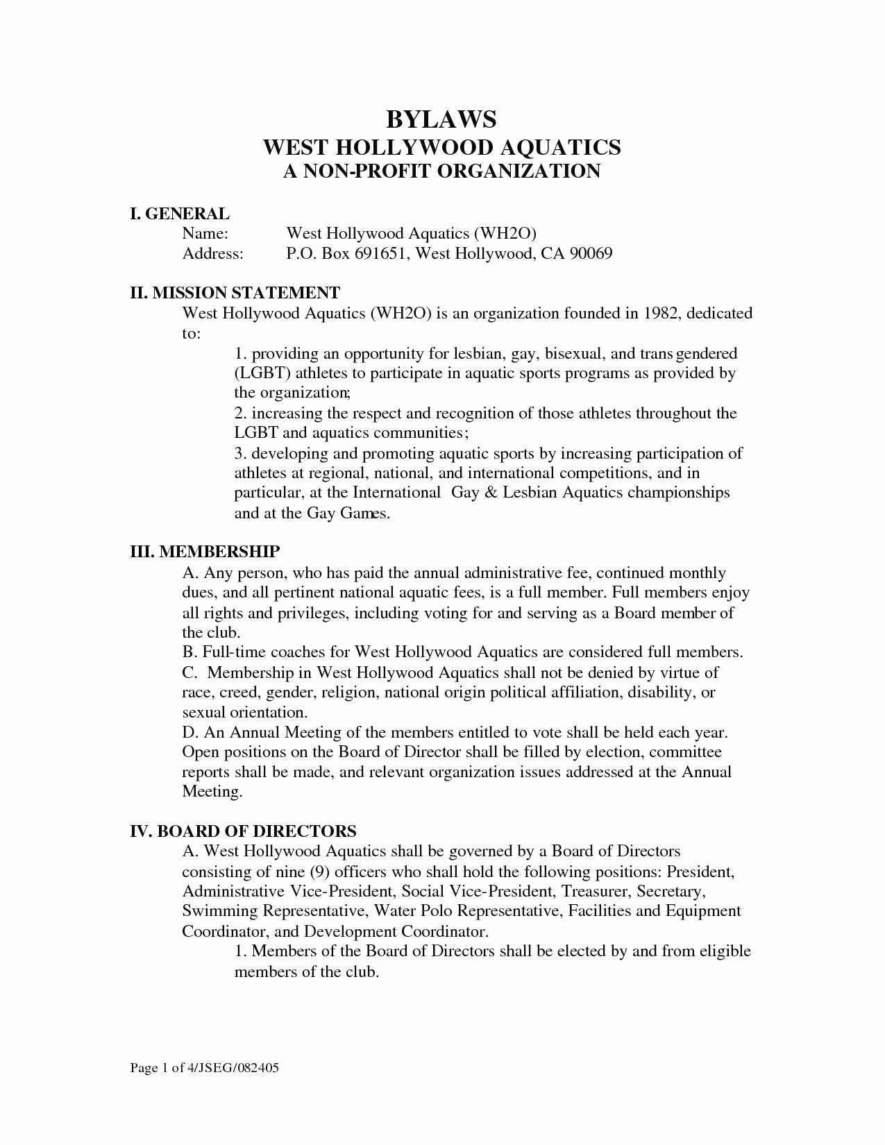 Social Club bylaws Template Inspirational Unique Non Profit bylaws Template Massachusetts