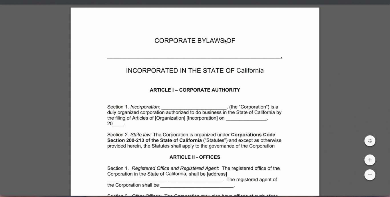 Social Club bylaws Template Unique Template for bylaws bylaws Template forms Fillable