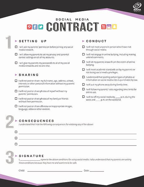 Social Media Contract Template Awesome [template] social Media Contract Bonsai