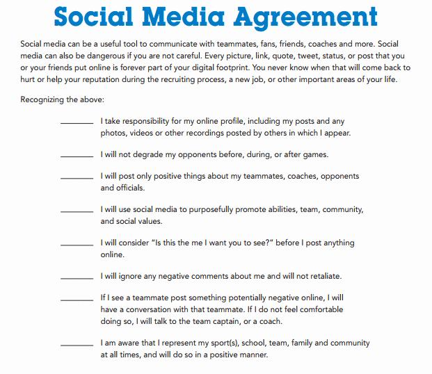 Social Media Contract Template Elegant social Media Contract Templates