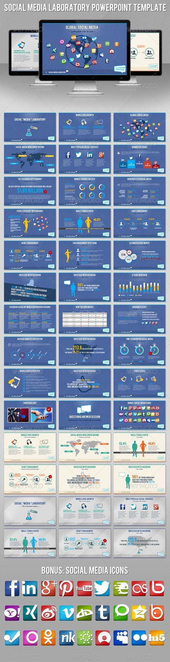 Social Media Powerpoint Template Best Of social Media Laboratory Hd Powerpoint Template