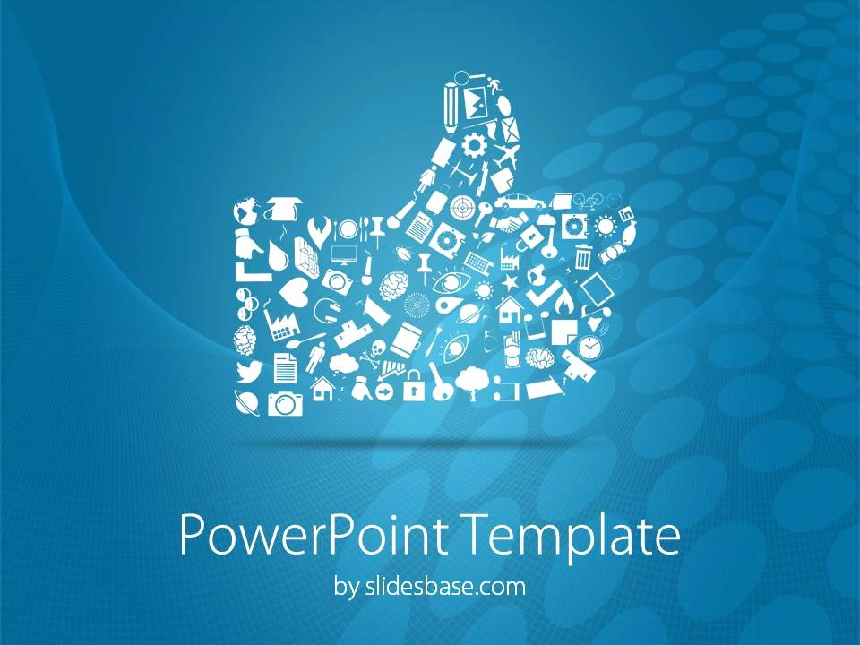 Social Media Powerpoint Template Elegant social Media Like button Powerpoint Template