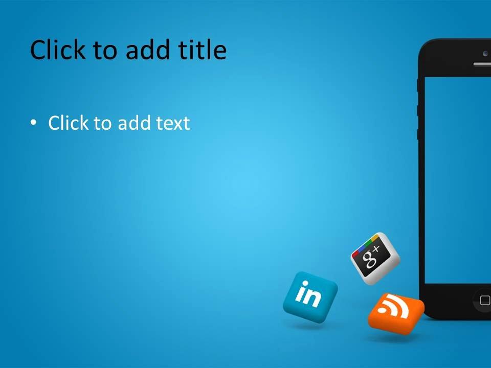 Social Media Powerpoint Template Inspirational iPhone social Media Powerpoint Template