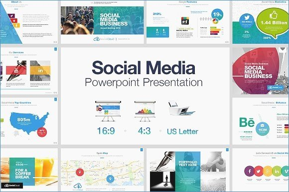 powerpoint template social network