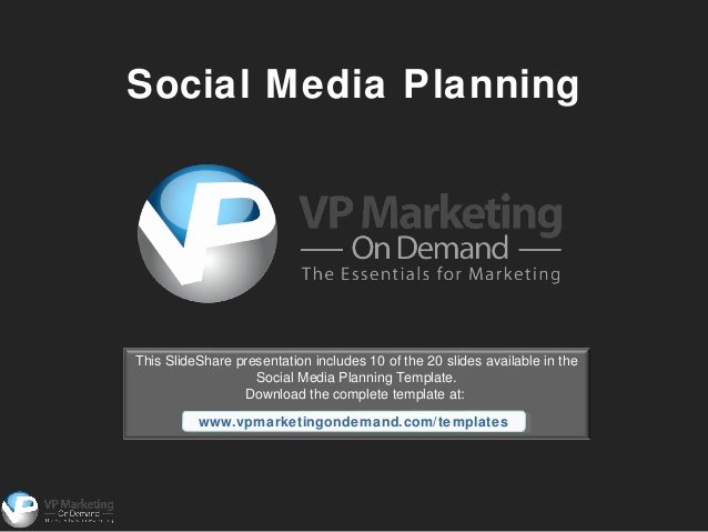 Social Media Powerpoint Template Inspirational social Media Planning Powerpoint Template