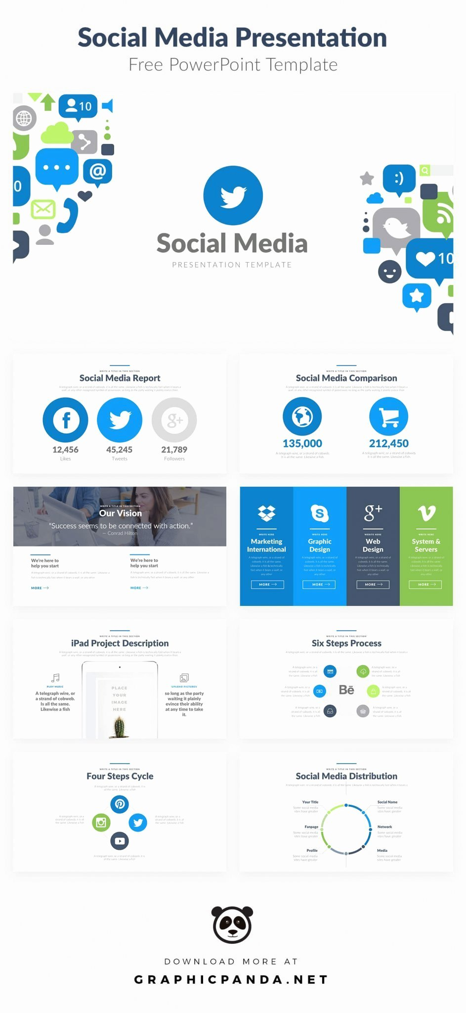 Social Media Powerpoint Template New 10 Free social Media Slides Templates for Microsoft Powerpoint
