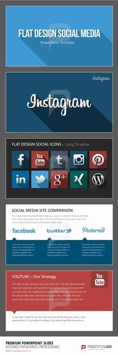 Social Media Powerpoint Template New 1000 Images About Flat Design Powerpoint Templates On