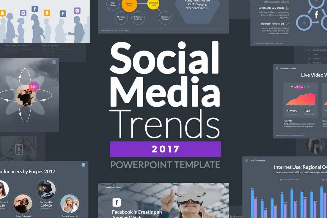 Social Media Powerpoint Template New 50 Best Powerpoint Templates Of 2019