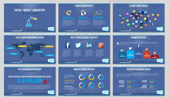 Social Media Ppt Template Awesome 18 Creative social Media Powerpoint Presentation Templates