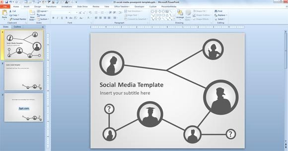 Social Media Ppt Template Beautiful Free social Media Template for Powerpoint Presentations