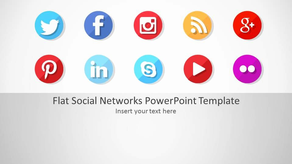 Social Media Ppt Template Fresh Flat social Networks Powerpoint Template Slidemodel