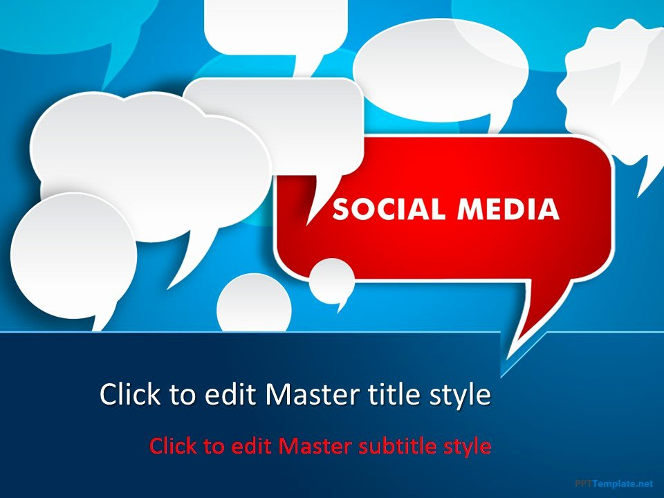 Social Media Ppt Template Fresh Free social Media Discussion Ppt Template