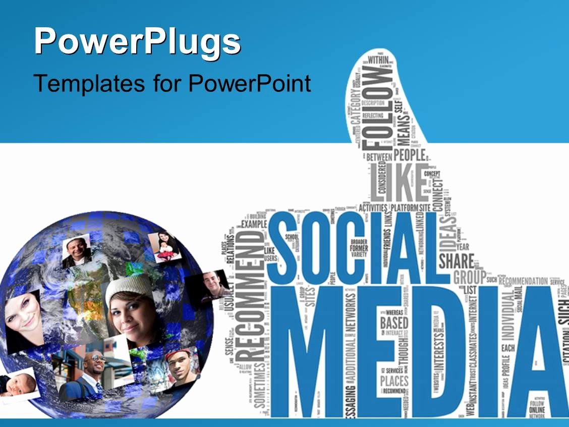 Social Media Ppt Template Luxury Powerpoint Template social Media Concept In Tag Cloud Of