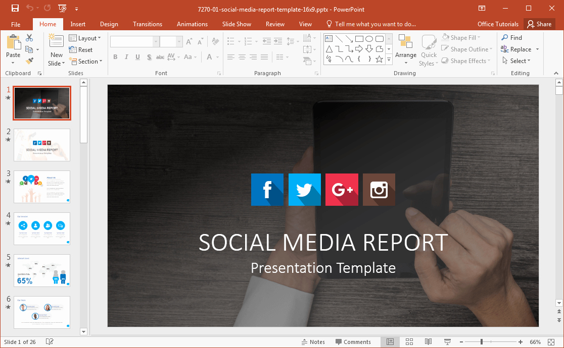Social Media Ppt Template Luxury social Media Powerpoint Template