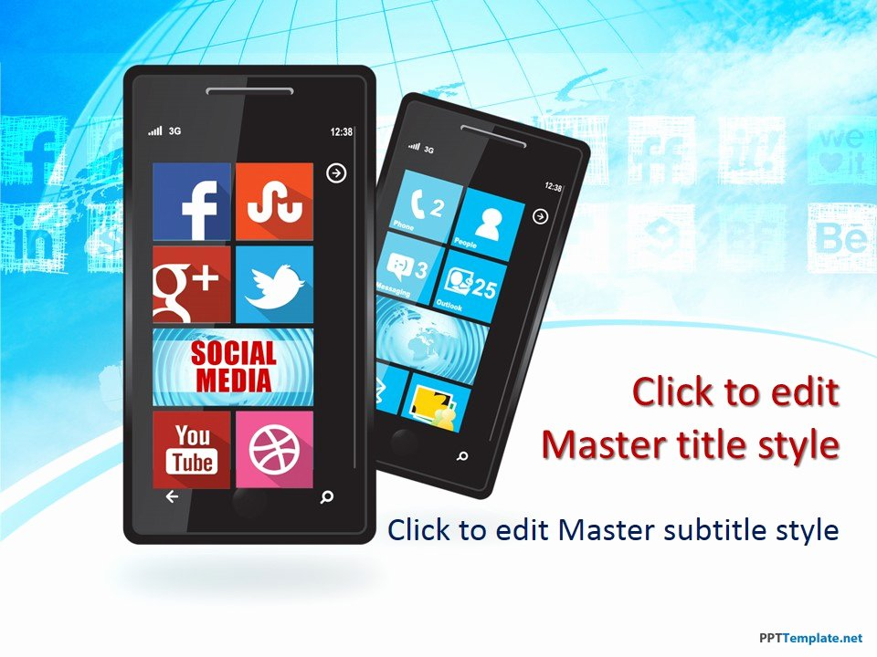 Social Media Ppt Template New Free social Media Windows Phone Ppt Template