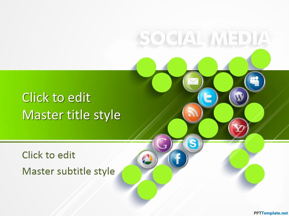 Social Media Ppt Template Unique Free Ppt Template