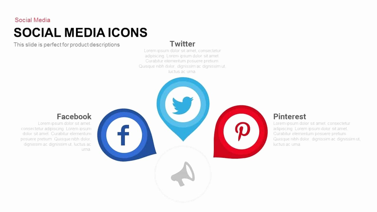 Social Media Ppt Template Unique social Media Icons Powerpoint and Keynote Template