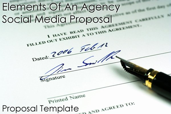 Social Media Proposal Template Inspirational Important Elements An Agency social Media Proposal