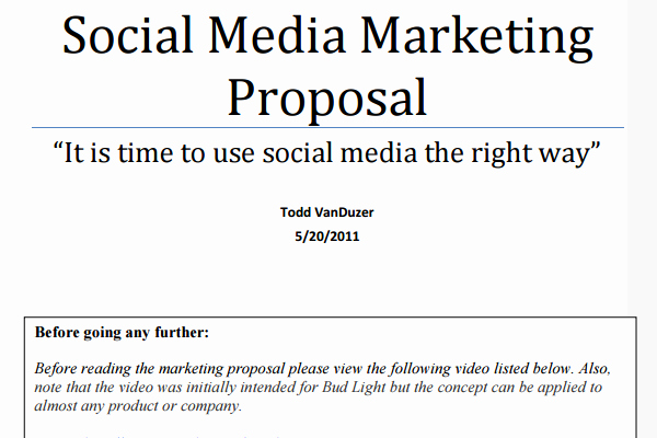 Social Media Proposal Template Luxury social Media Proposal