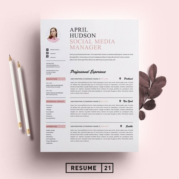 Social Media Resume Template New 1000 Ideas About Resume Templates On Pinterest